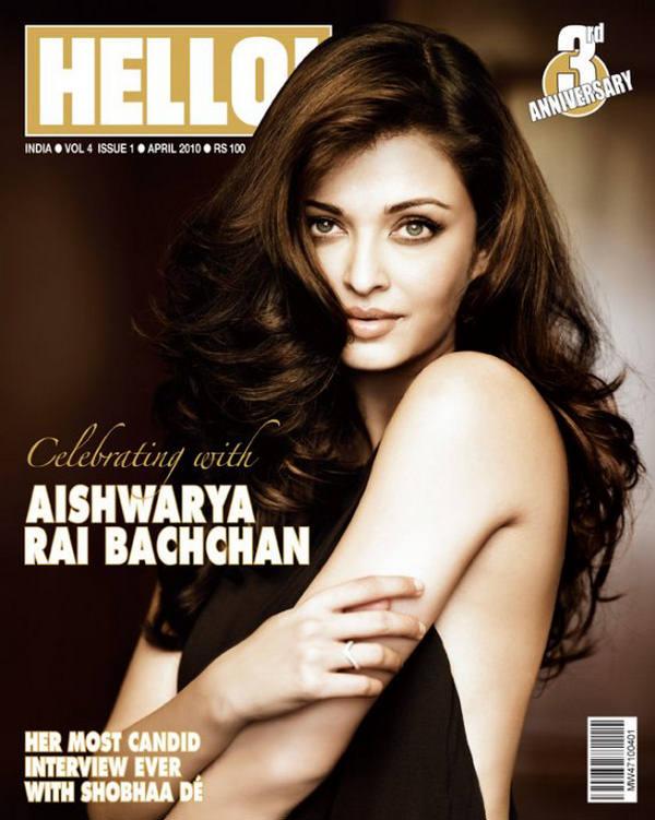 Aishwarya Rai poses in sexy black for Hello
