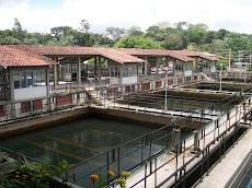Estação de Captação e Tratamento de água.