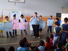 Orientações sobre os cuidados com a água em todas as turmas da escola