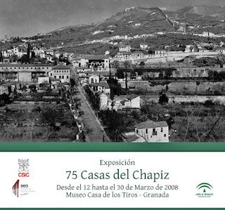 Cartel de la exposición '75 Casas del Chapiz'