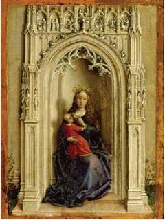 Rogier van der Weyden. La Virgen con el niño entronizada, 1433 [Foto: Museo Thyssen-Bornemisza, Madrid]