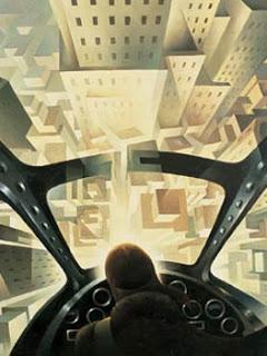 Tullio Crali. Incuneandosi nell'abitato, 1939. Mart, Museo di Arte Moderna e Contemporanea di Trento e Rovereto. [Foto: Archivo Fotografico Mart]