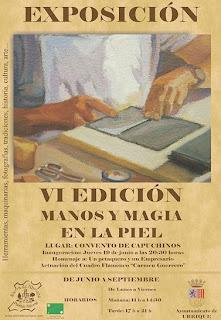 Cartel de 'Manos y Magia en la Piel'