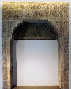 Ventana de yesería de la Casa del Chapiz, conservada en el Museo Arqueológico Nacional