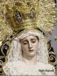 Imagen de la Virgen de la Soledad de Jerez [Foto: Cádiz Cofrade]