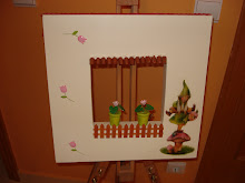 Uma tela original - todos estes trabalhos foram feitos pela Cláudia