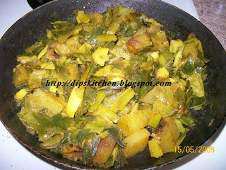 how to make aaloo spring onion
