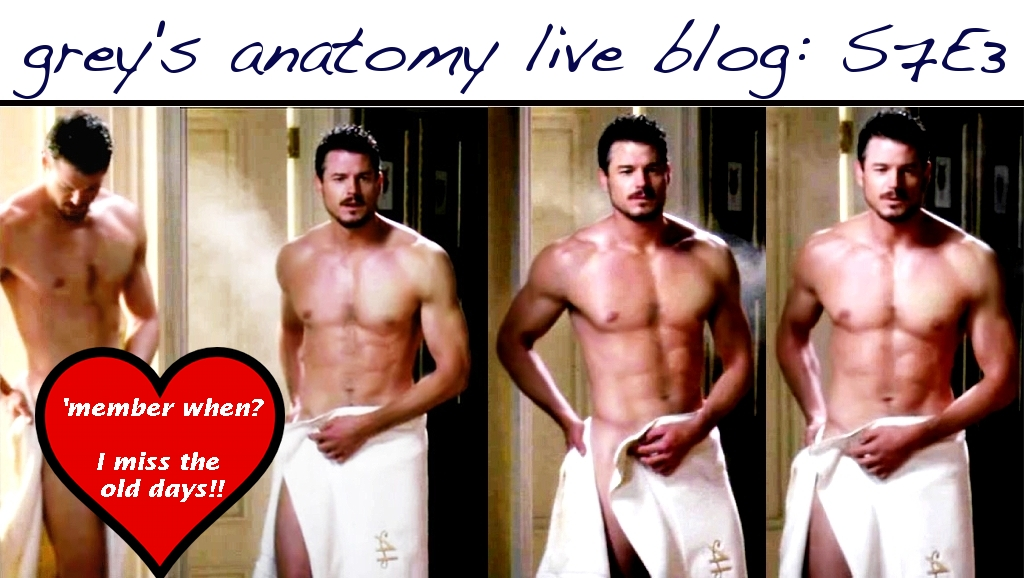 Fickle Feline Live Blog Greys Anatomy Season 7 Episode 3