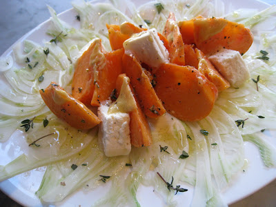 Fennel &amp; Persimmon Salad with Apple Cider Vinaigrette by  Let Me Eat Cake