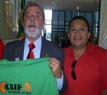 CANTOR JOSÉ ANTONIO E O PRESIDENTE DA REPÚBLICA LULA.