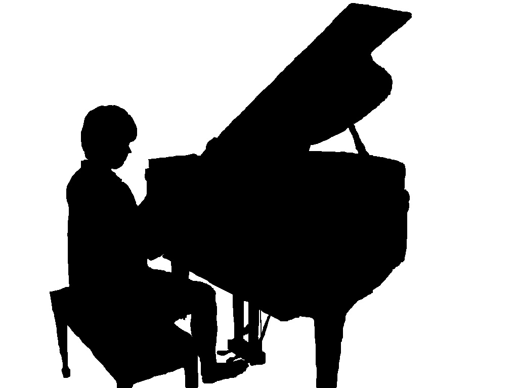 Cam Deavin Playing Piano Silhouette