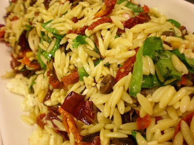Orzo Pasta Salad. I made a very flavorfull and colorfull salad at work ...