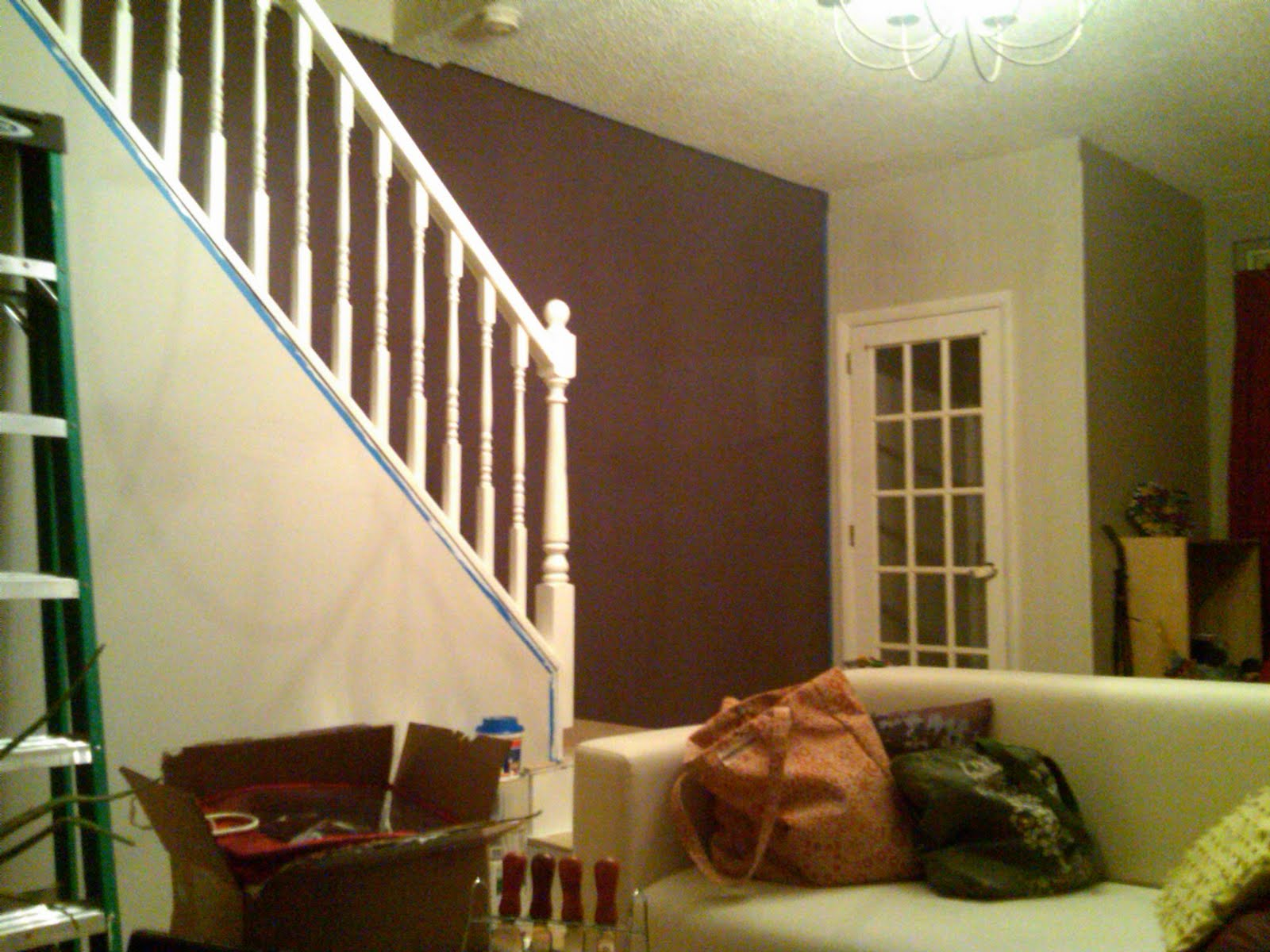 Buy and paint baseboards and paint new ceiling paint paint paint