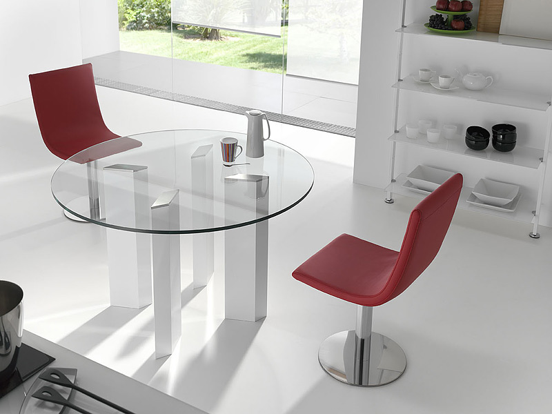Mesa de comedor extensible de cristal transparente medida for Mesa 70x70 extensible