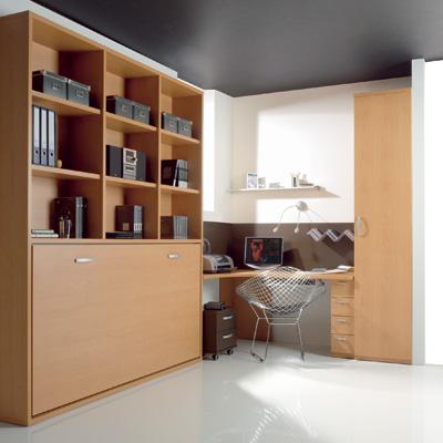 Camas abatibles plegables individuales horizontales de 90cm - Camas empotradas en armario ...