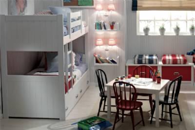 Camas dobles y triples para dormitorios juveniles e infantiles - Habitaciones ninos literas ...