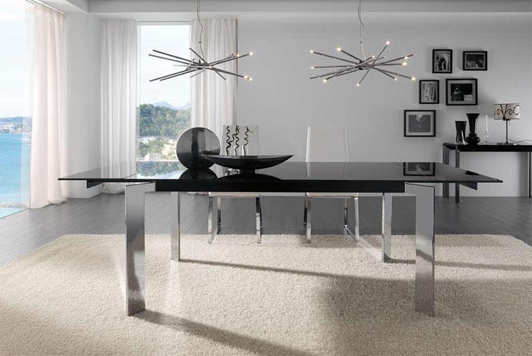 Mesas de comedor mesas de centro ramiro tarazona en xikara for Comedor gris moderno