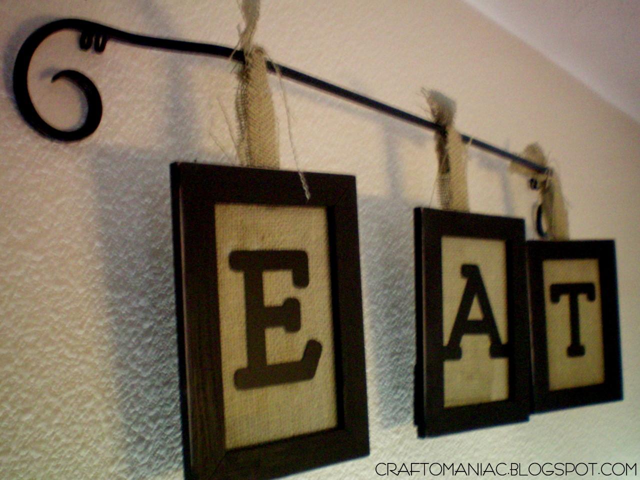 Burlap Crafts Hanging Burlap Eat Sign Craft O Maniac