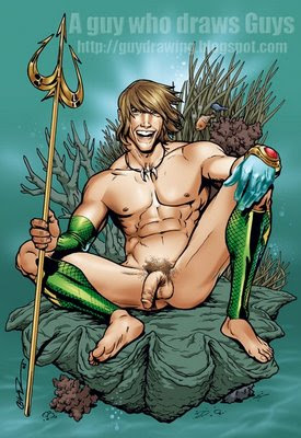 cartoon gay nude aquaman