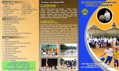 Design Brosur MTs Istiqlal 2010
