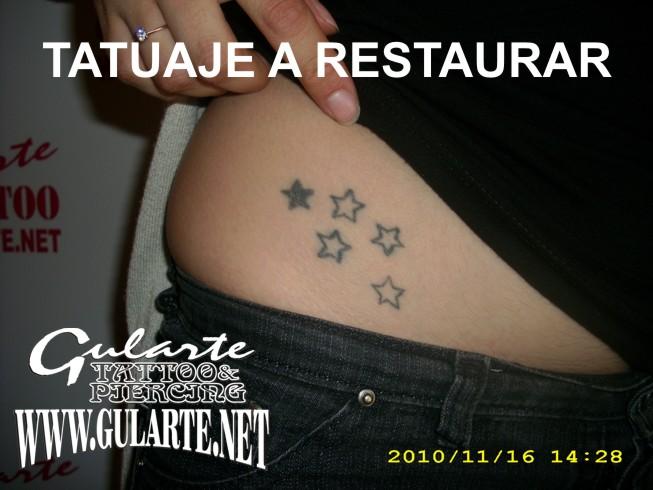 tattoo de estrellas. TATTOO Gimena