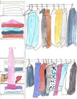 Draw The Inside Of Your Closet. Yeah, This One Was A Real Challenge For