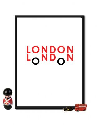 """london red bus"" fine art print by craig wilson [873000-2"