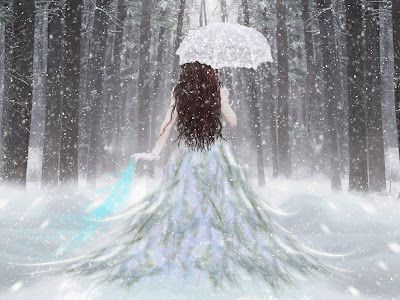Beautiful Snow Girl Free 3D Wallpaper