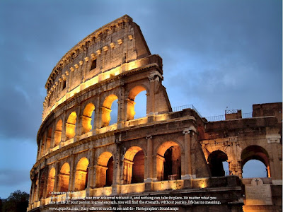 The Colosseum Rome Italy at Early Morning