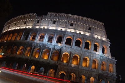 The Colosseum Rome Italy In Night
