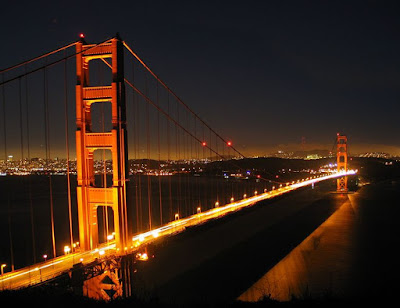 The Golden Gate Bridge San Francisco in the Night Pictures and Photos