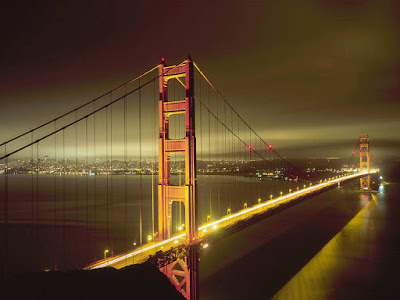 The Golden Gate Bridge San Francisco in the Night Pictures