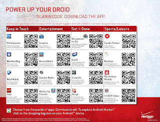 Verizon ScanLife QR Code Place Mat