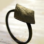forged rings, sterling silver stacking rings, oxidized jewelry, blackened rings, blackened jewelry