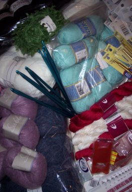 some of Dee's loot from a day of yarn shopping