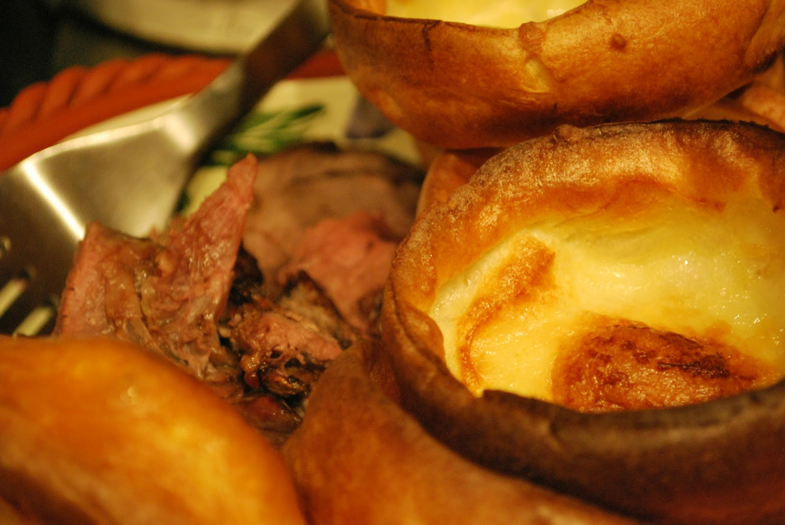 traditionally yorkshire pudding was served before the beef with gravy