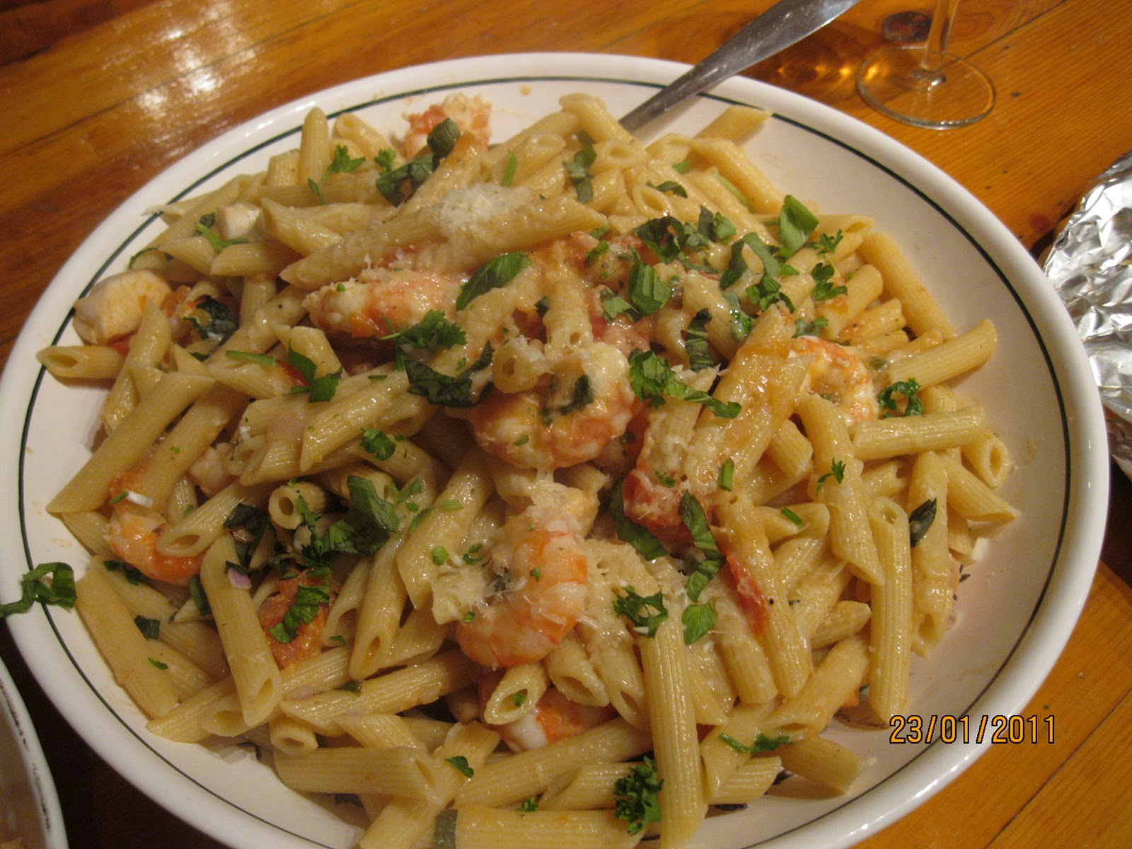 What's for dinner: Seafood pasta