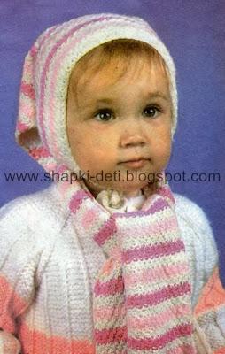 Вязание спицами для детей шапки модели и схемы.