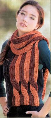 шарф в полоску