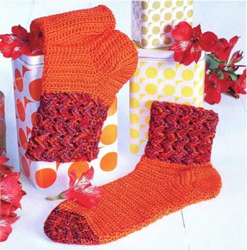 носки плетенным узором