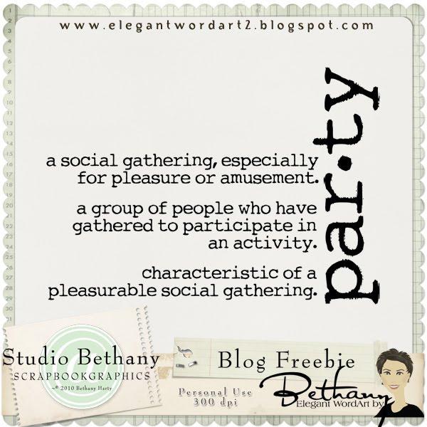 Elegant Wordart 2 Party Definition