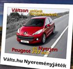 Peugeot 207 autó nyeremény