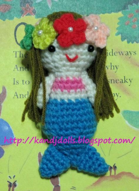 Kleine Meerjungfrau, kostenlose Amigurumi Häkelanleitung - Amigurumi ...