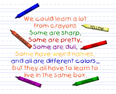 Crayons as Teachers