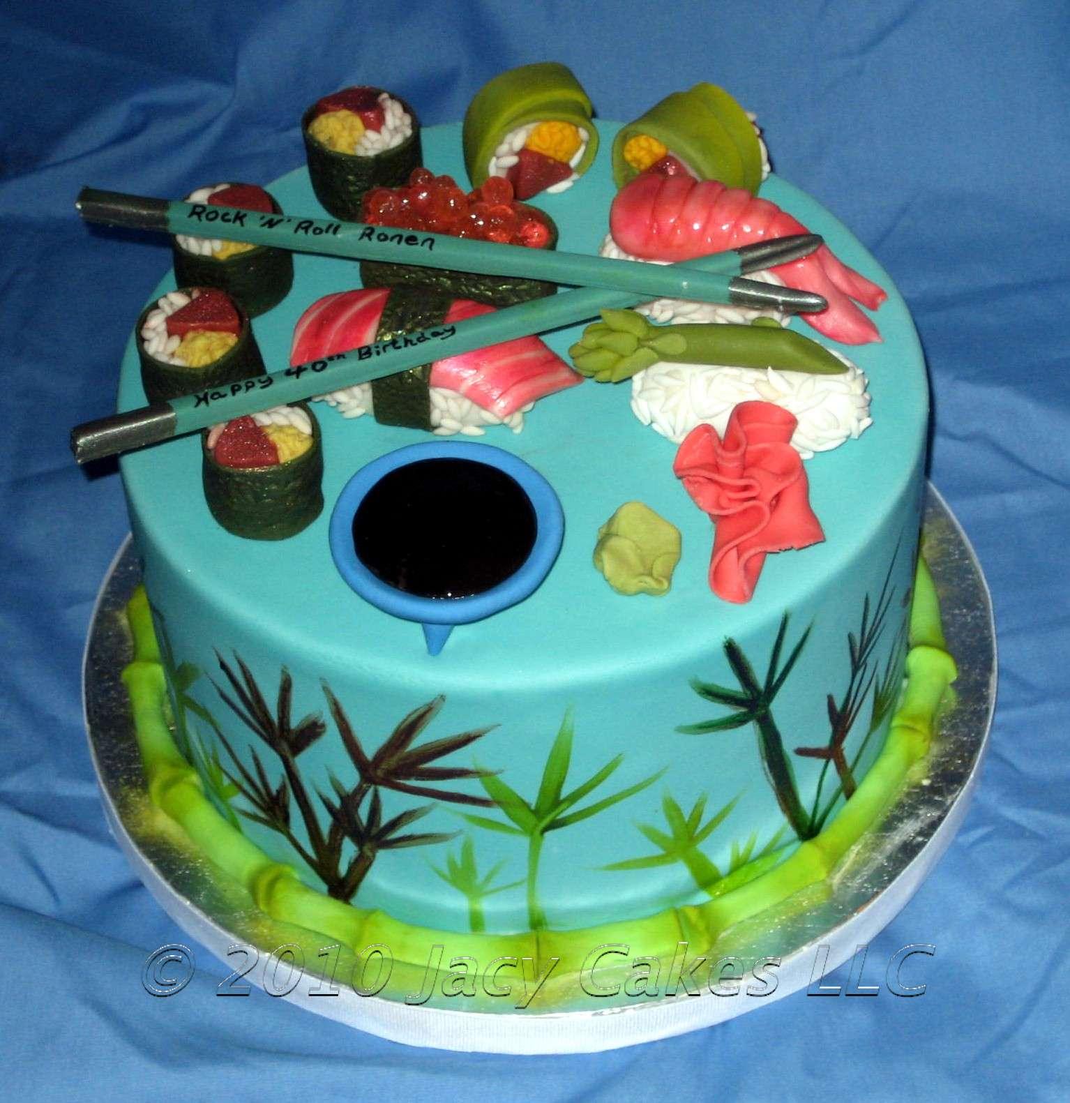 News from Jacy Cakes: Sushi Cake