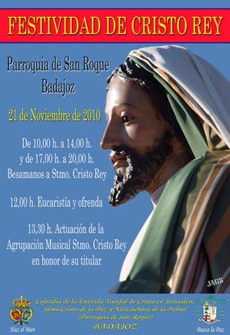 Cartel Festividad de Cristo Rey