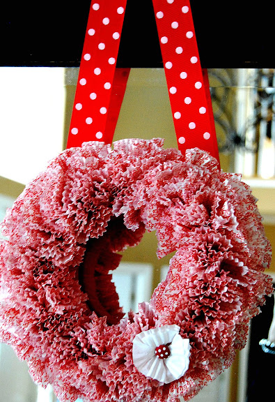 Tatertots and Jello Whimsical Valentine Wreath