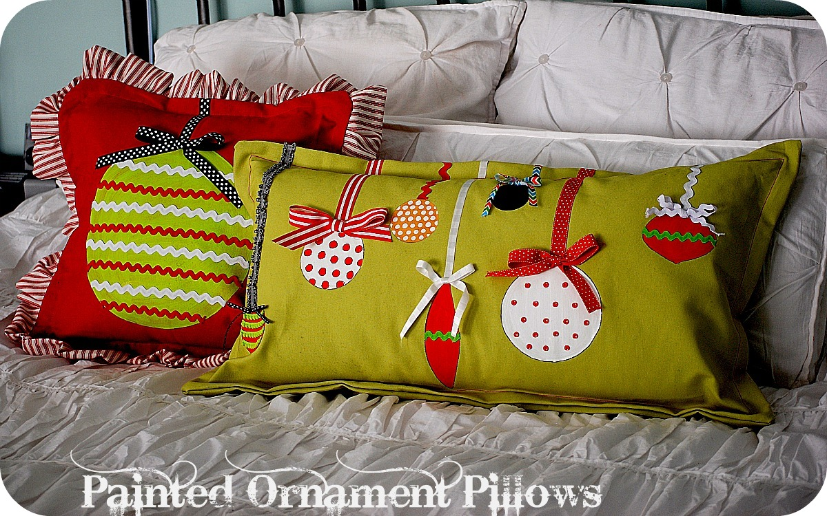 christmas project make painted ornament pillows With christmas pillows to make