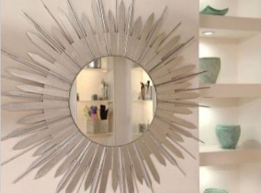Marco para espejo redondo portal de manualidades for Como hacer un espejo con marco de madera