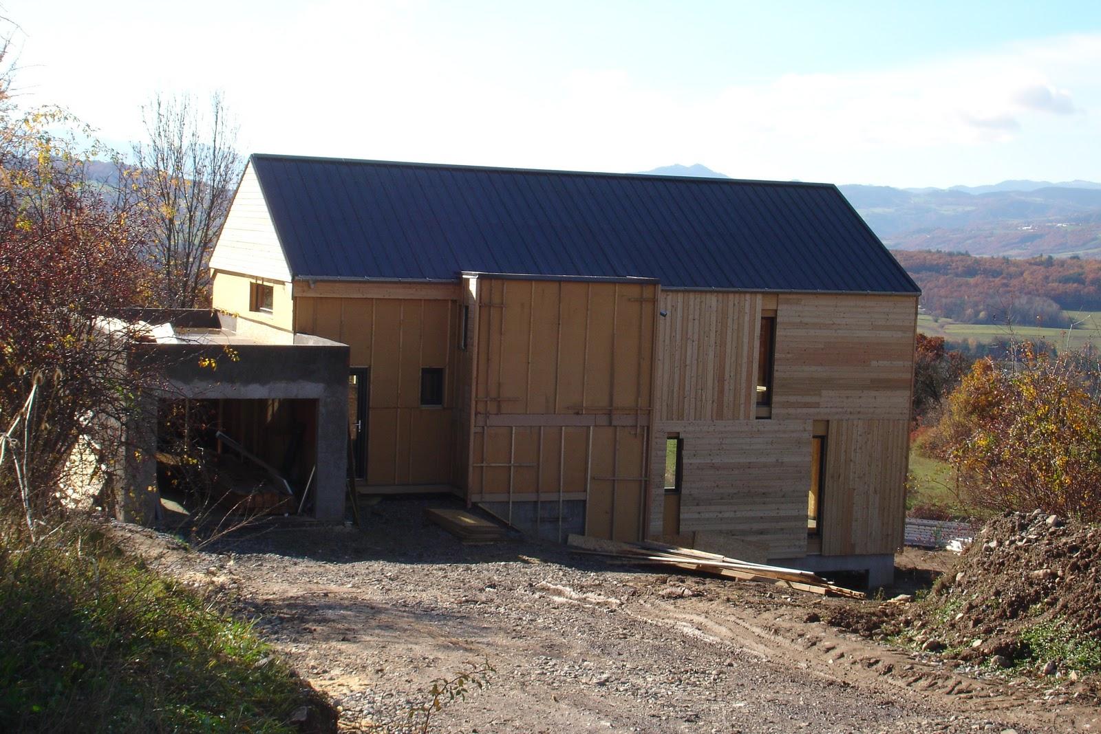 Bardage  Notre maison bois bioclimatique passive